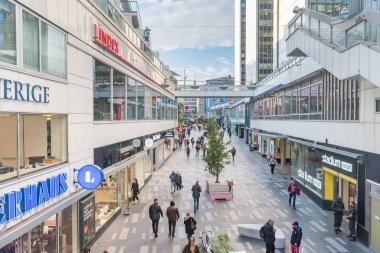 Shopping alley in Stockholm.