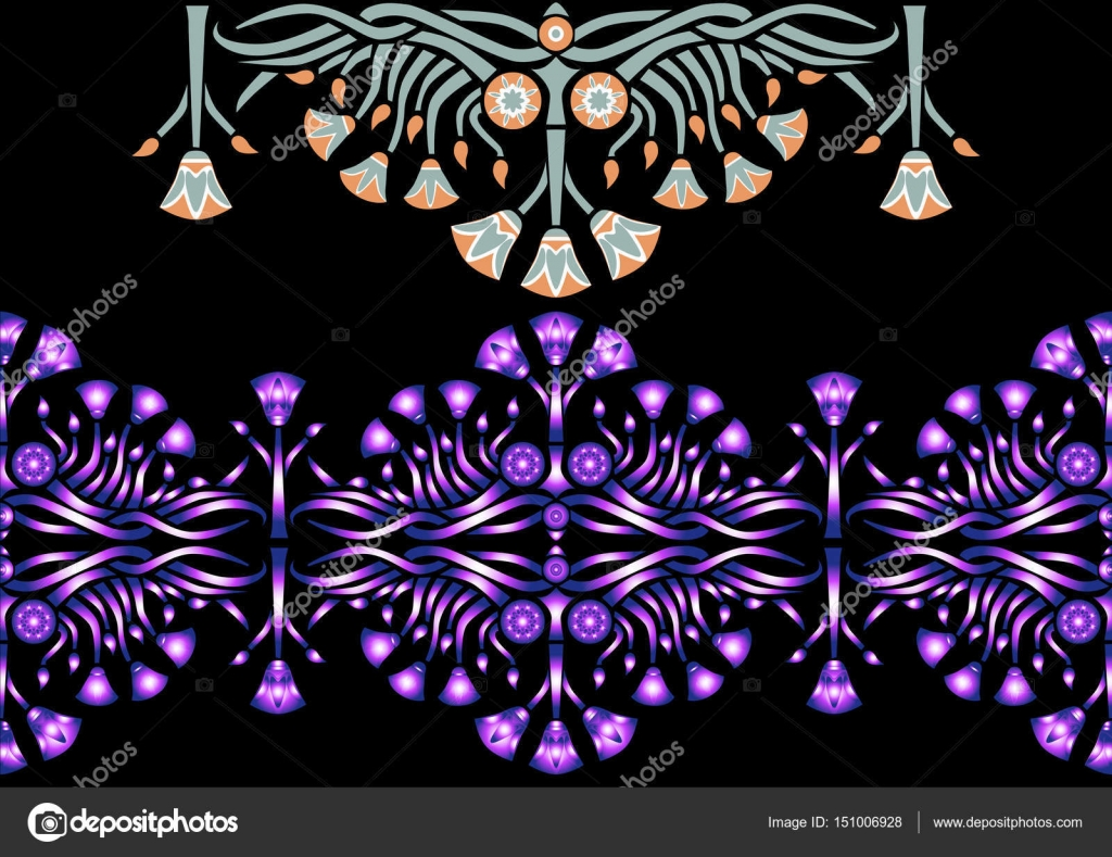 Ancient egyptian pattern with lotus stock vector valentinash beautiful ancient egyptian floral pattern with lotus vector flower ornament with original design vector by valentinash izmirmasajfo