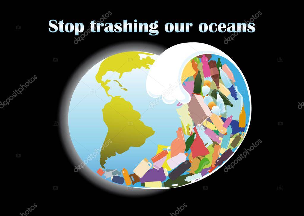 Tsunami wave from plastic debris