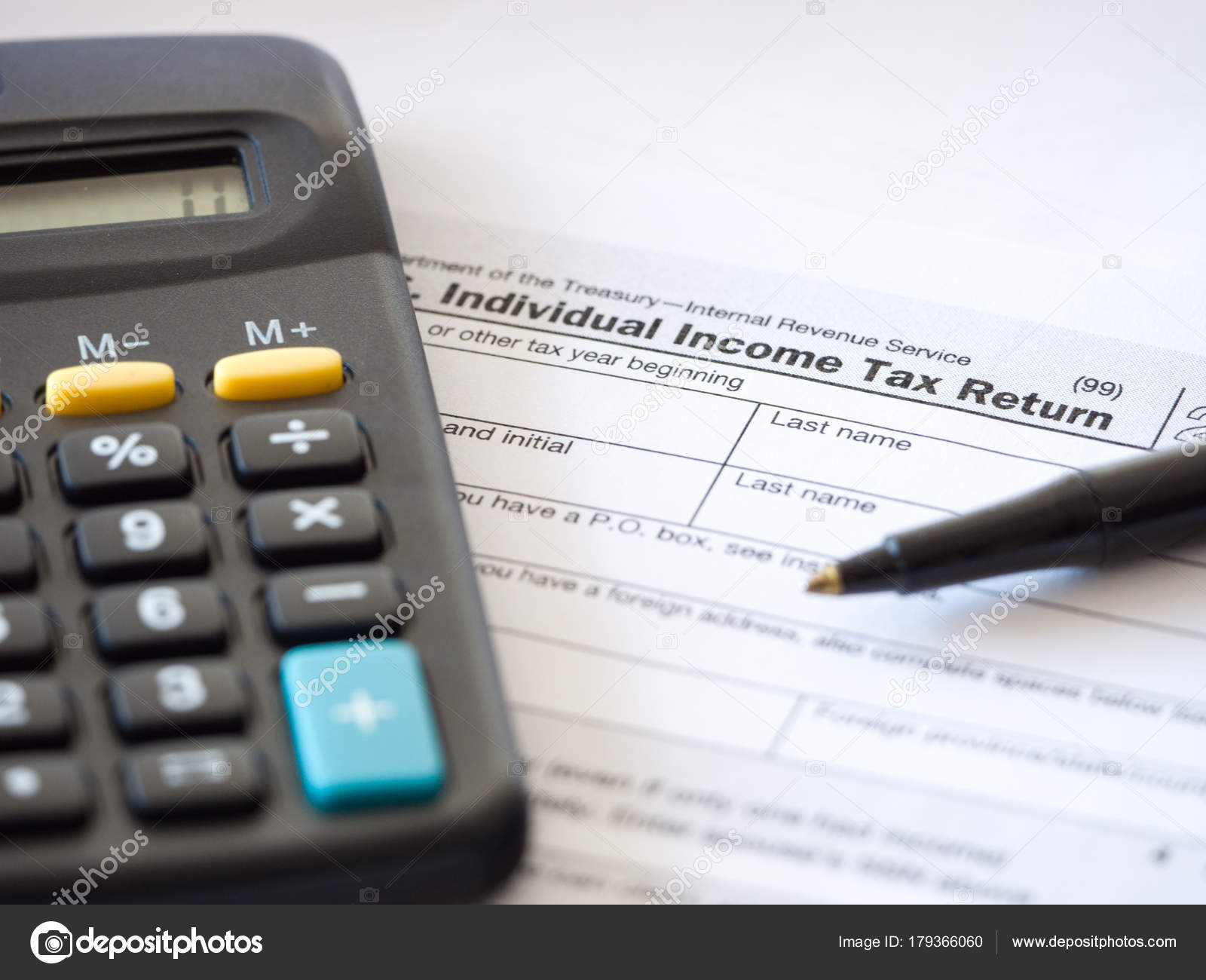 Close Photograph Individual Income Federal Tax Return