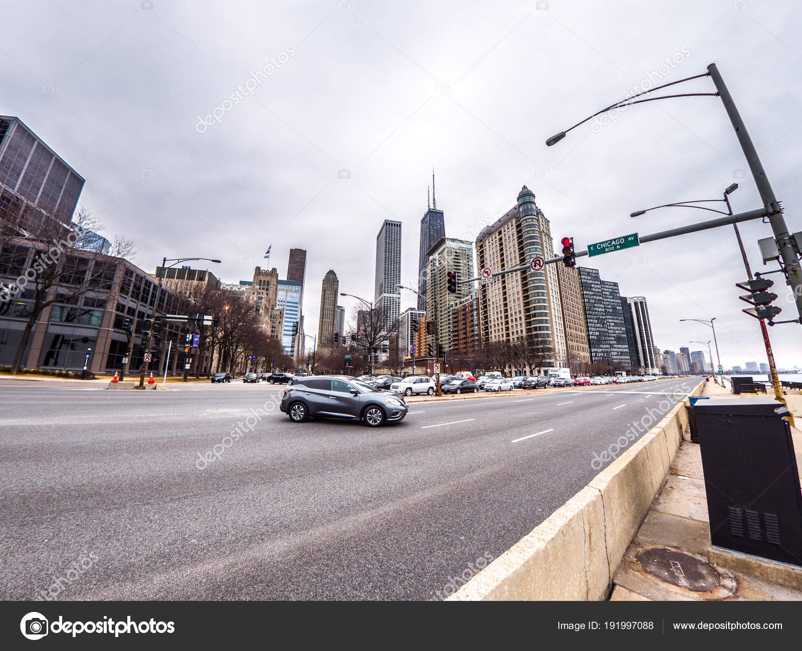 Chicago February 28th 2018 Cars Drive Lake Shore Drive Intersection Stock Editorial Photo C Jkirsch13 191997088