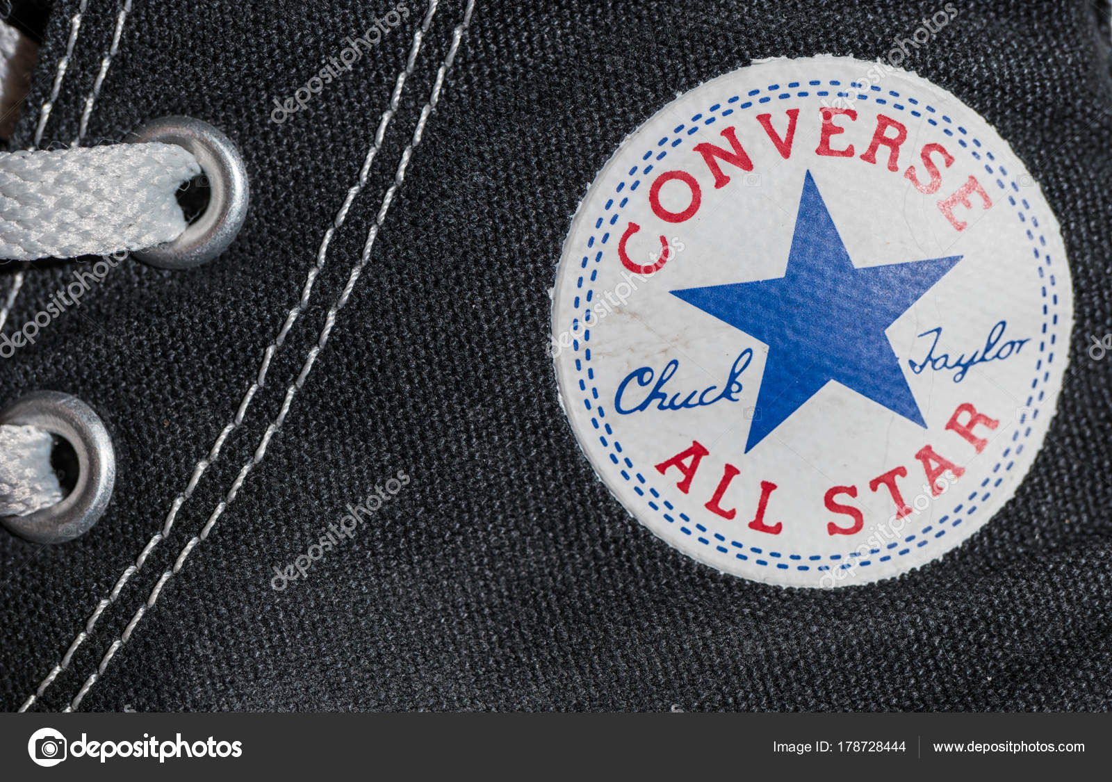 eeea77092fa Converse All star logo printed on the side of the shoe – Stock ...
