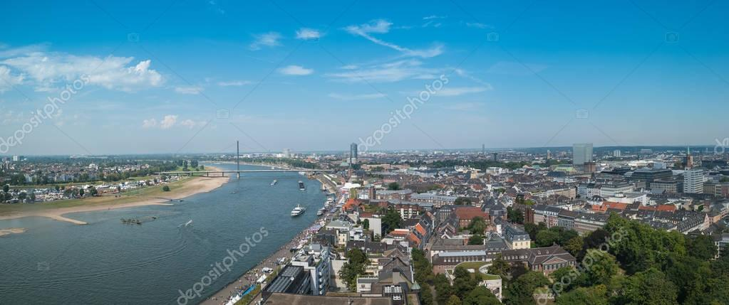 View of the old town of Dusseldorf panorama