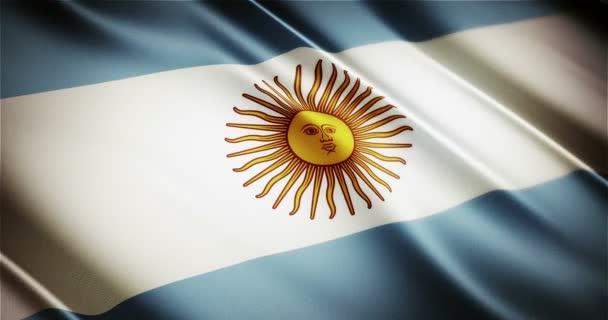 Argentina realistic national flag seamless looping waving animation