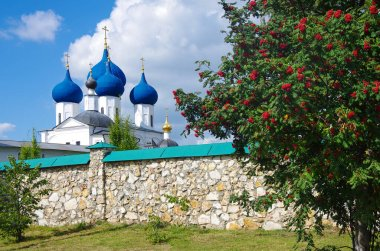 SERPUKHOV, RUSSIA - September, 2019: Vysotsky Monastery is a walled Russian Orthodox monastery