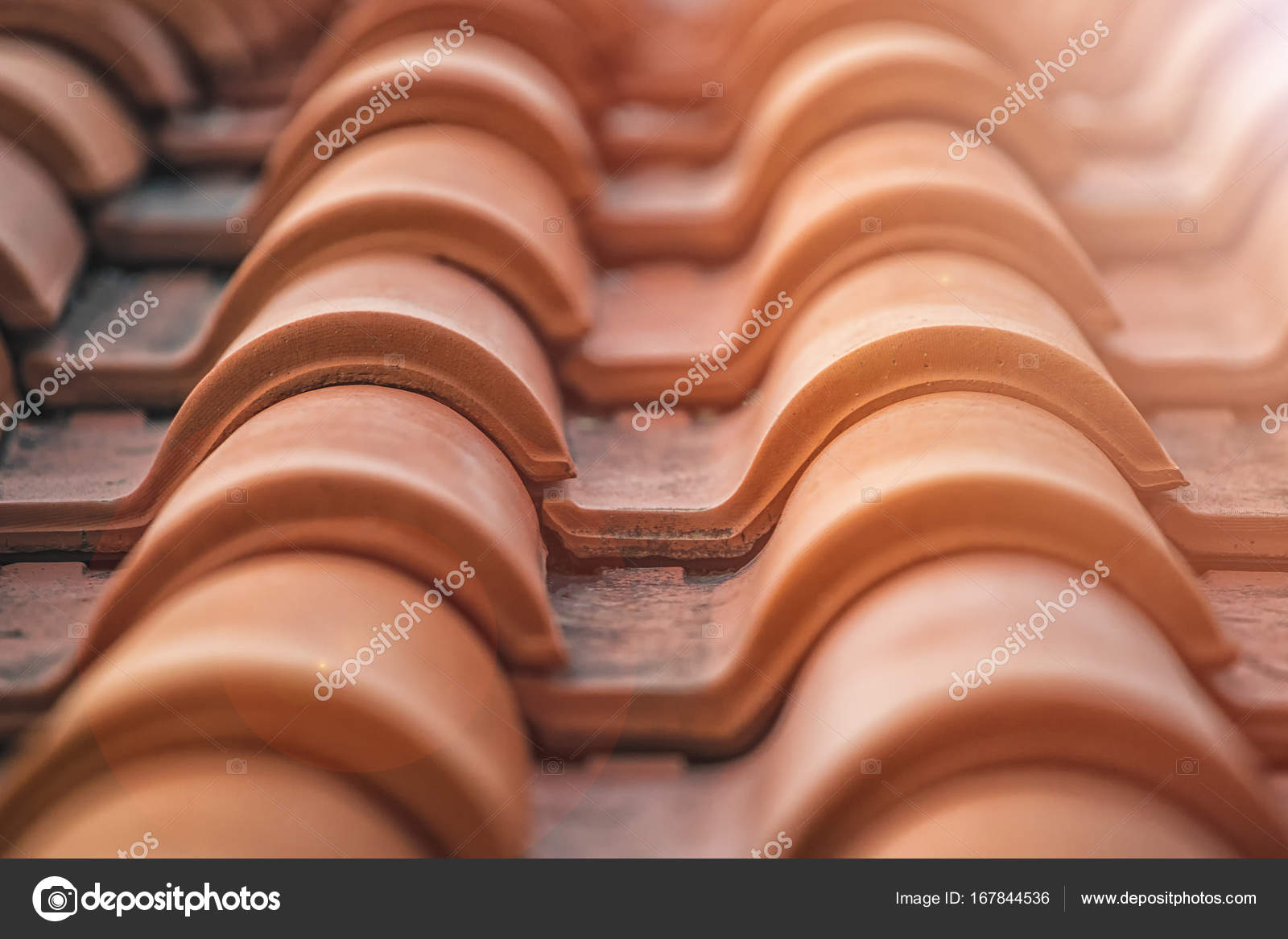 Spanish tile roof Abstract background texture Mediterranean