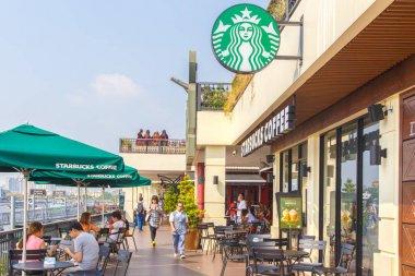 Bangkok ,Thailand- FEB 22, 2016: Starbucks Cafe. Starbucks Corporation is an American global coffee company and coffeehouse chain based in Seattle, Washington