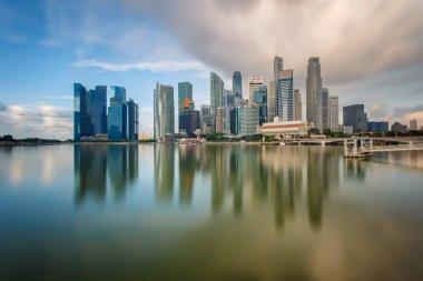 Daylight and bridge in Singapore City with panorama view, Singapore