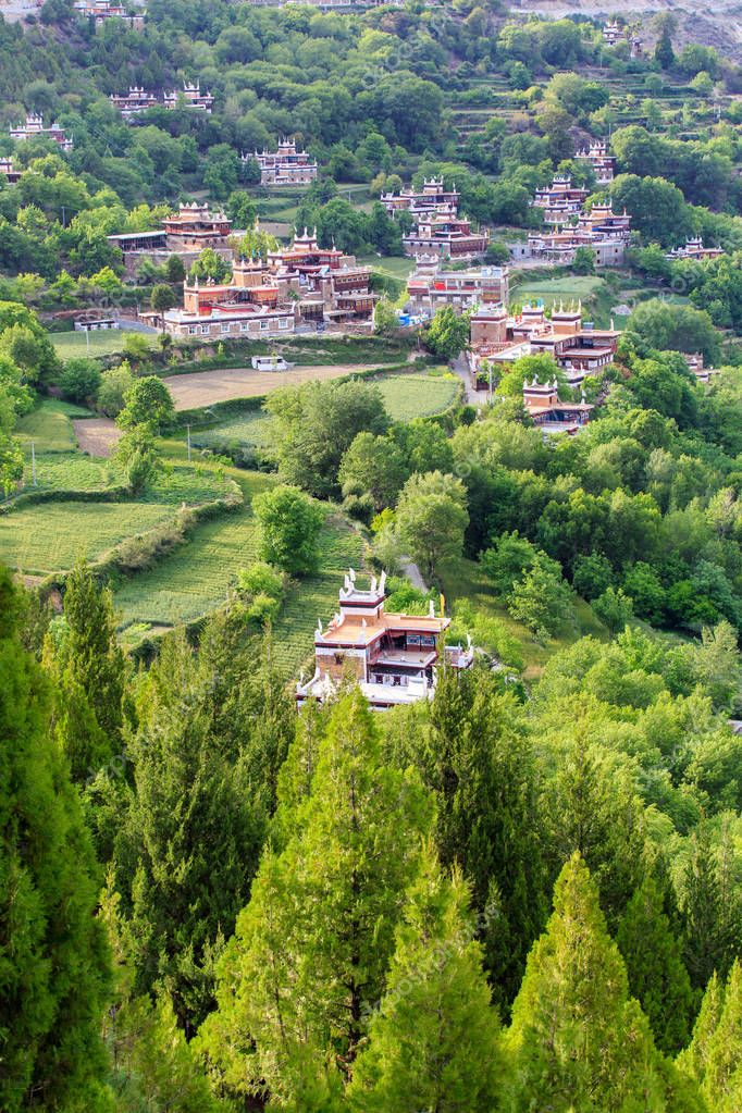 Danba Tibetan Village at Sichuan, China