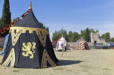 medieval military camp