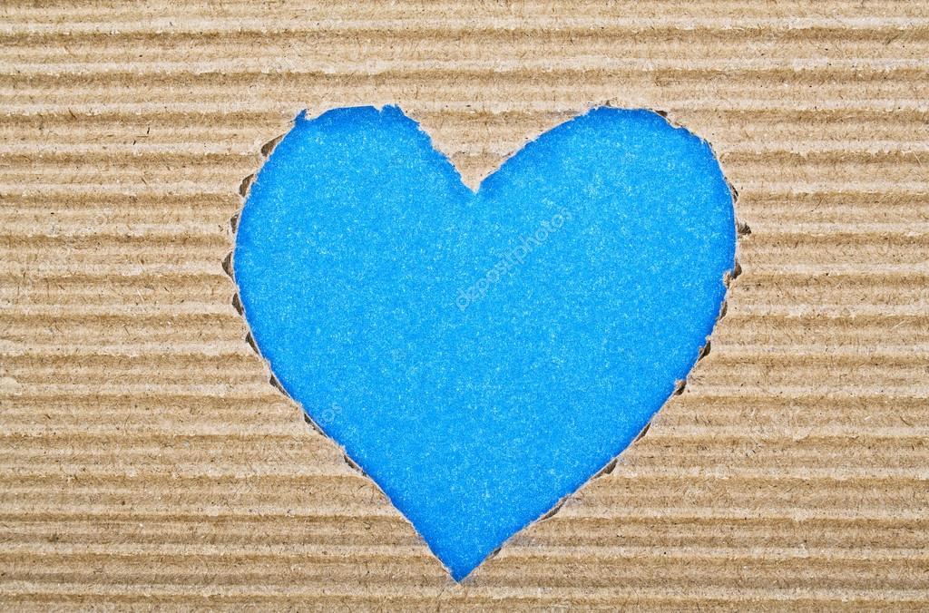 blaue herzen schneiden sie aus wellpappe stockfoto. Black Bedroom Furniture Sets. Home Design Ideas