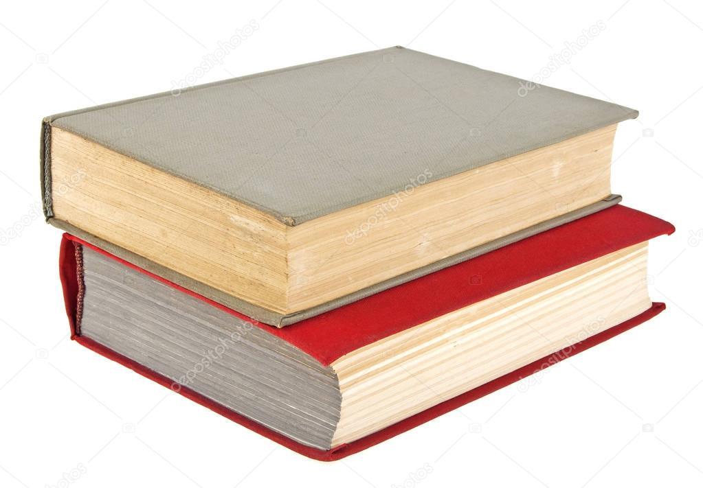 Ferme Les Livres Anciens Isoles Sur Fond Blanc
