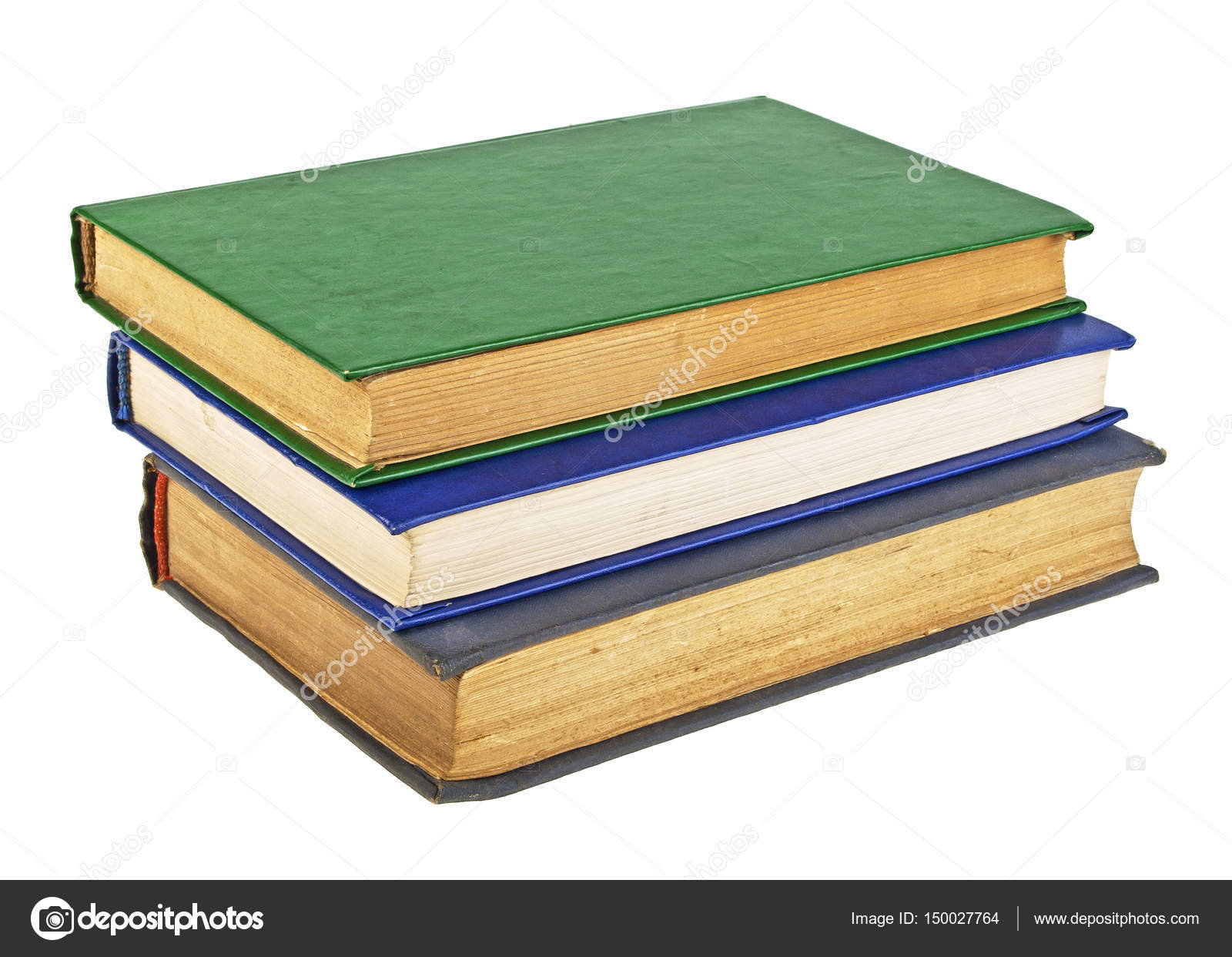Colored old books on a white background — Stock Photo © domnitsky ...