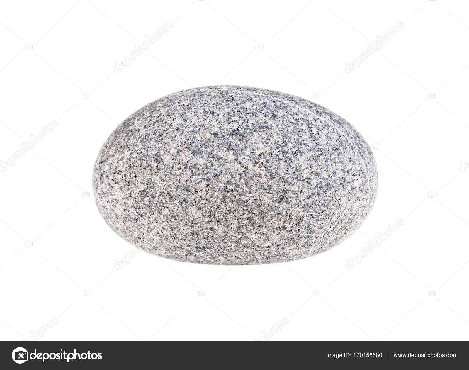 Pebble Stone Isolated On A White Background Stock Photo