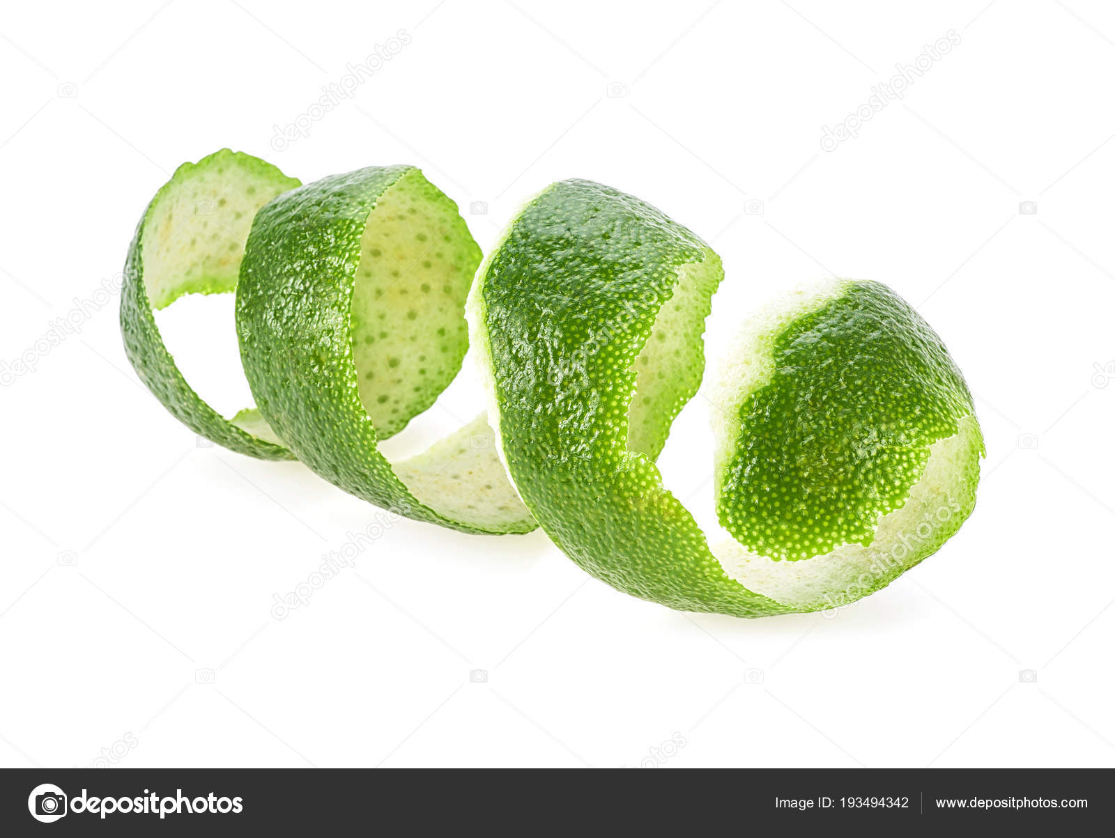Lime skin isolated on white background — Stock Photo