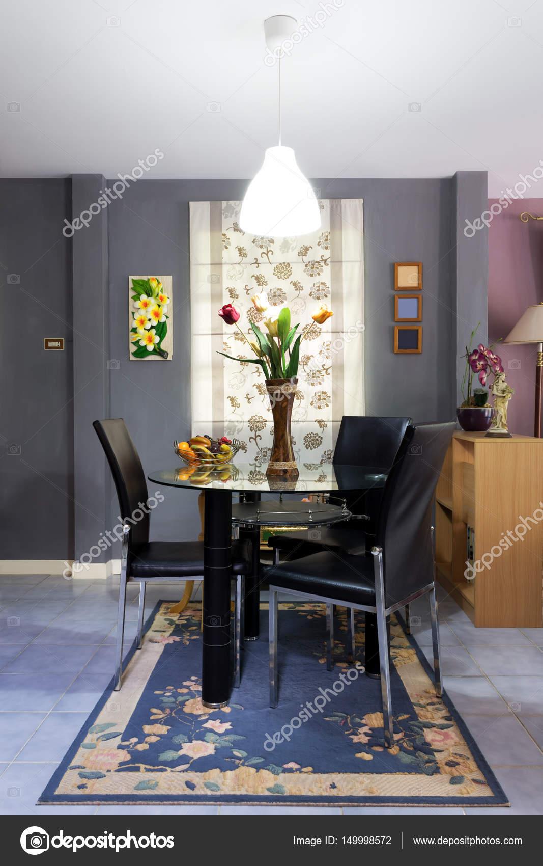 Concepto de decoracion del hogar | comedor moderno tono oscuro ...