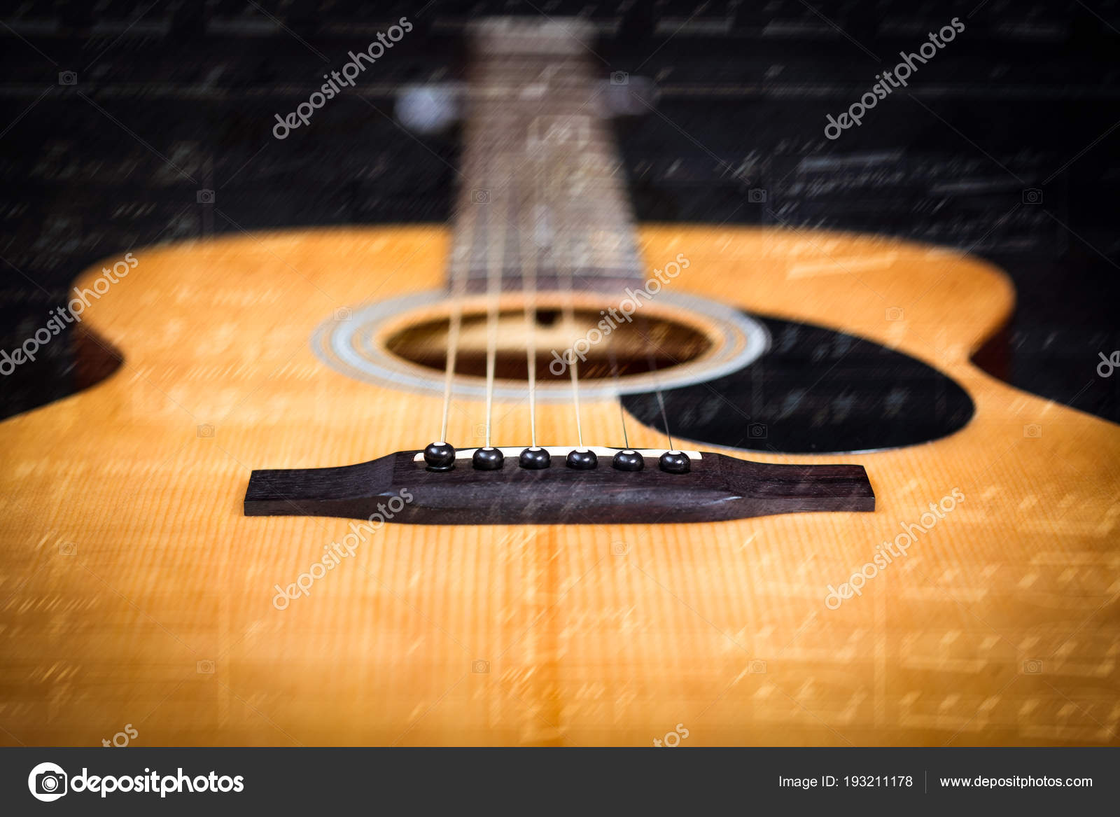 Acoustic Guitar Music Note Stock Photo C Princeoflove 193211178