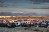 Fotografie Panoráma města Banská Bystrica s zasněžené oblasti Nízké Tatry Slovensko