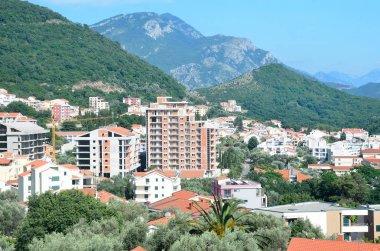 Petrovac, Montenegro, June, 20, 2015.   The town of Petrovac. Summer landscape. Montenegro
