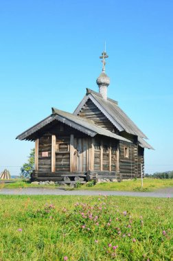 Russia, Karelia. Church of the Resurrection of Lazarus in September