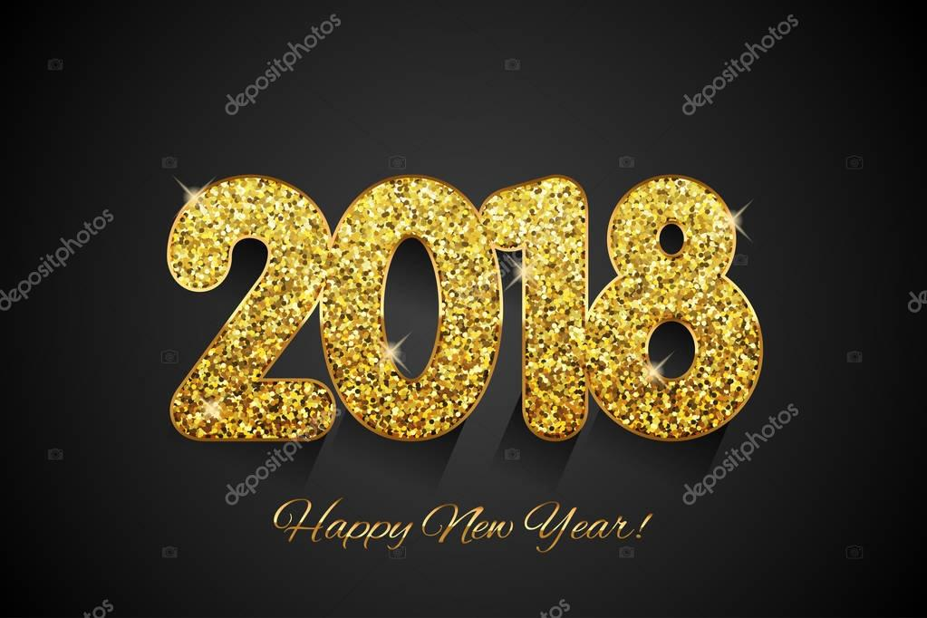 happy new year 2018 new year background