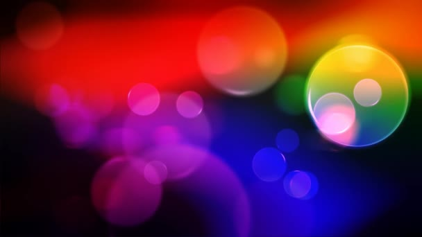 bunte Kreise Video-Hintergrund-Schleife. glasige Kreisformen führen einen farbenfrohen Tanz auf. Bewegungshintergrund, der sich perfekt für DVDs, Events, Clubs und Lounges eignet.