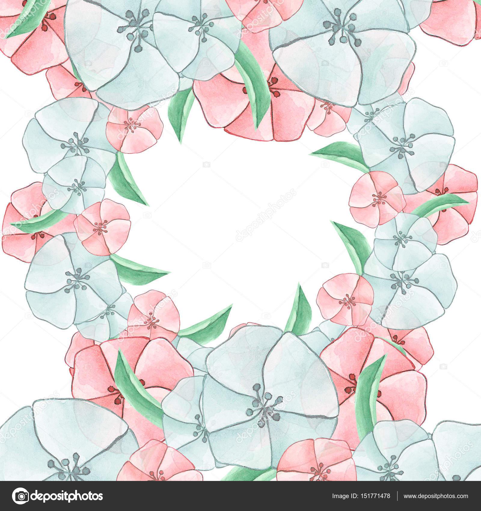marco floral redondo — Fotos de Stock © Lia.N.P #151771478