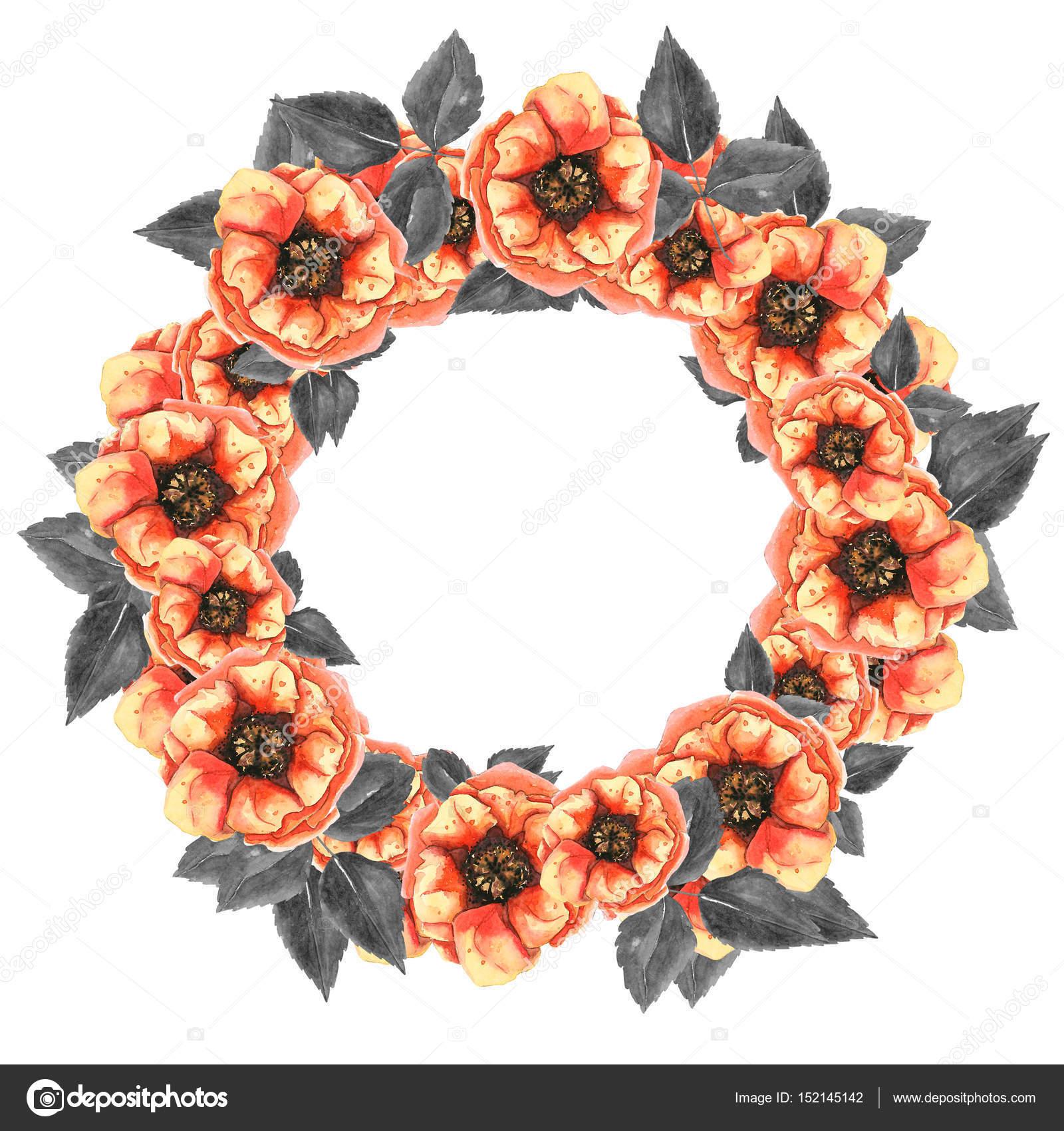 marco floral redondo — Fotos de Stock © Lia.N.P #152145142