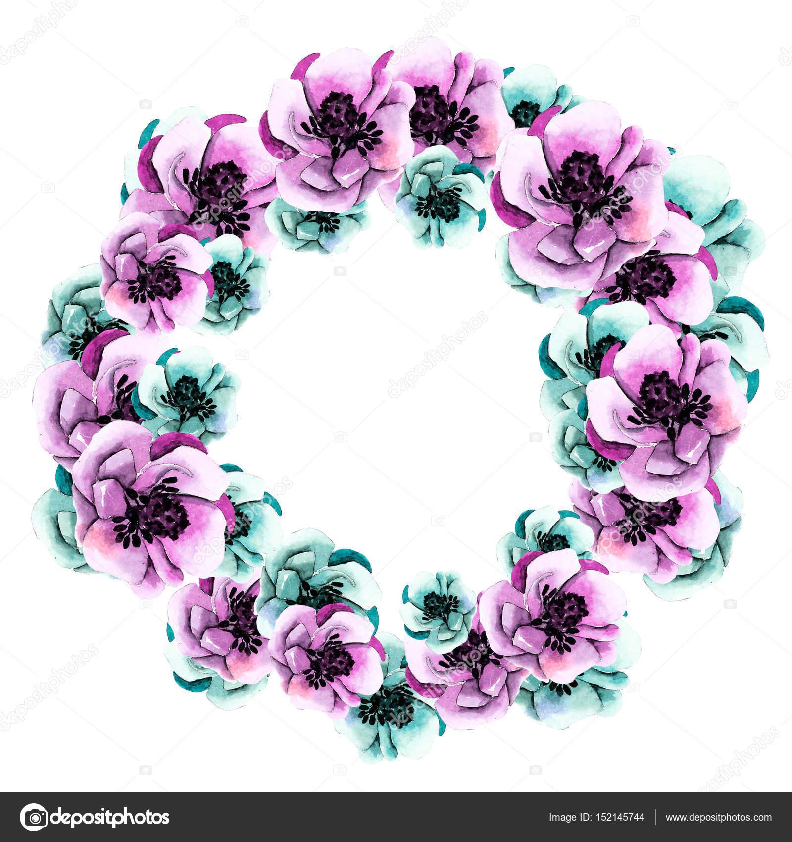 marco floral redondo — Fotos de Stock © Lia.N.P #152145744