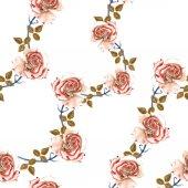 varrat nélküli virágmintás rózsákkal