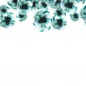 Background Of Blue Flowers