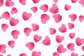 Srdce Pattern akvarel