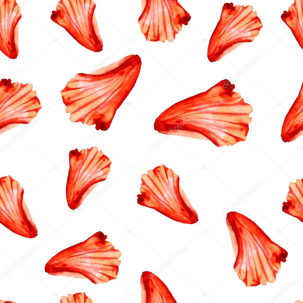 pattern with red flower petals