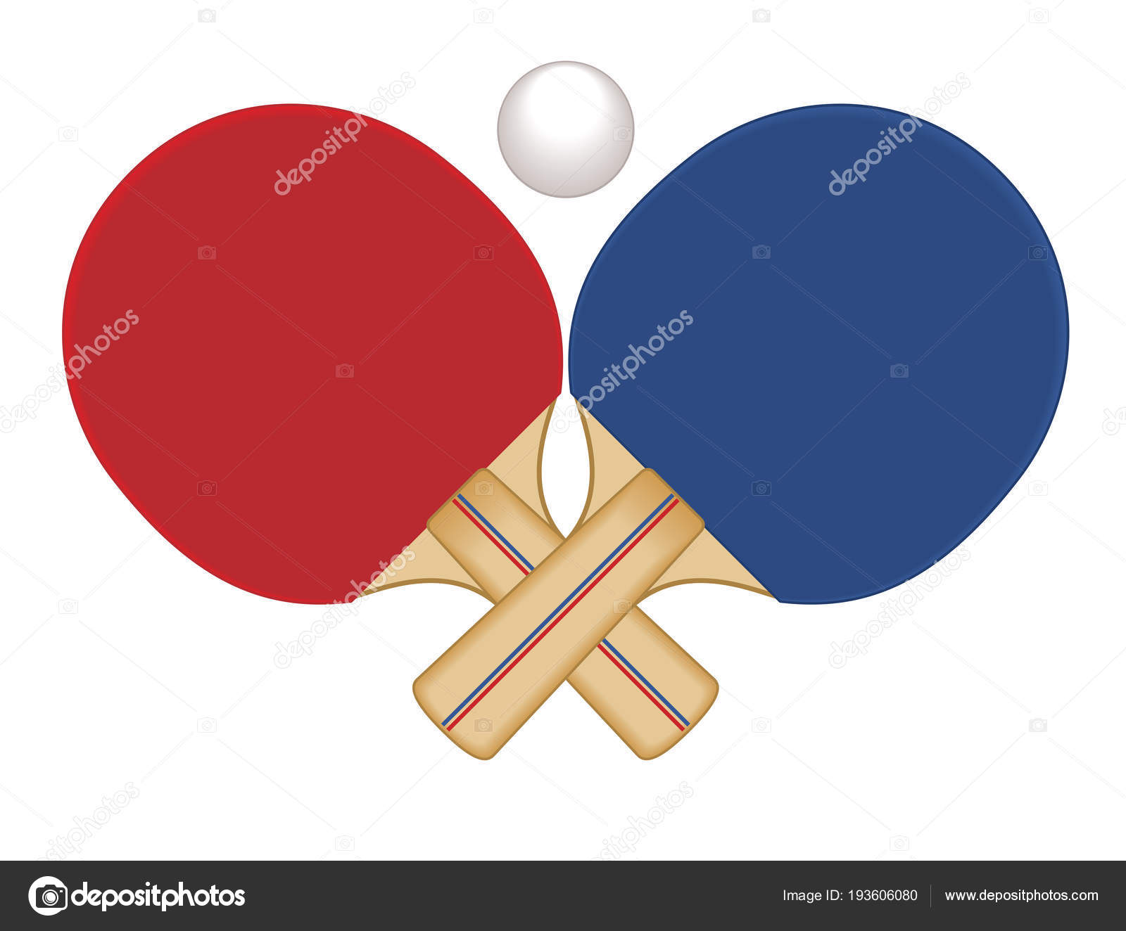 29d22679c raquetes de tênis de mesa cruzadas e a bola — Vetores de Stock © jo ...