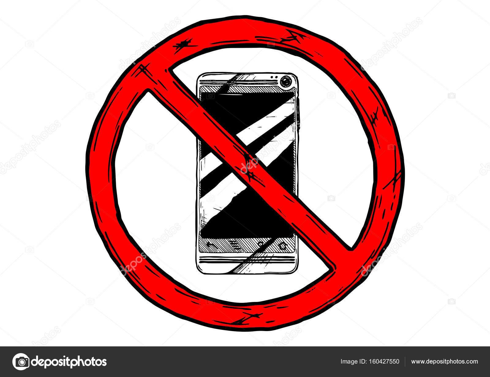 no phone use sign