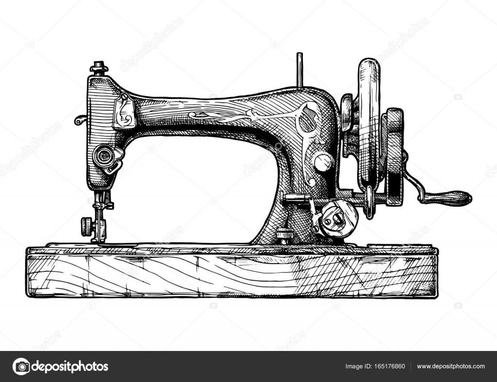 illustration de machine à coudre — Image vectorielle