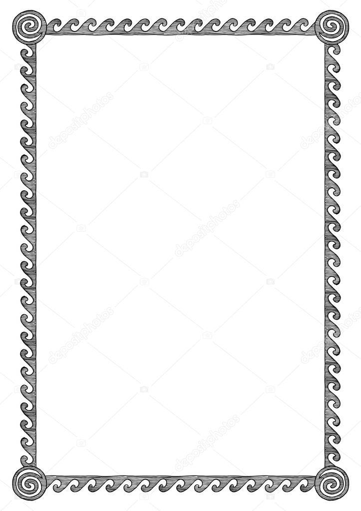 cadre grec avec vague image vectorielle suricoma. Black Bedroom Furniture Sets. Home Design Ideas