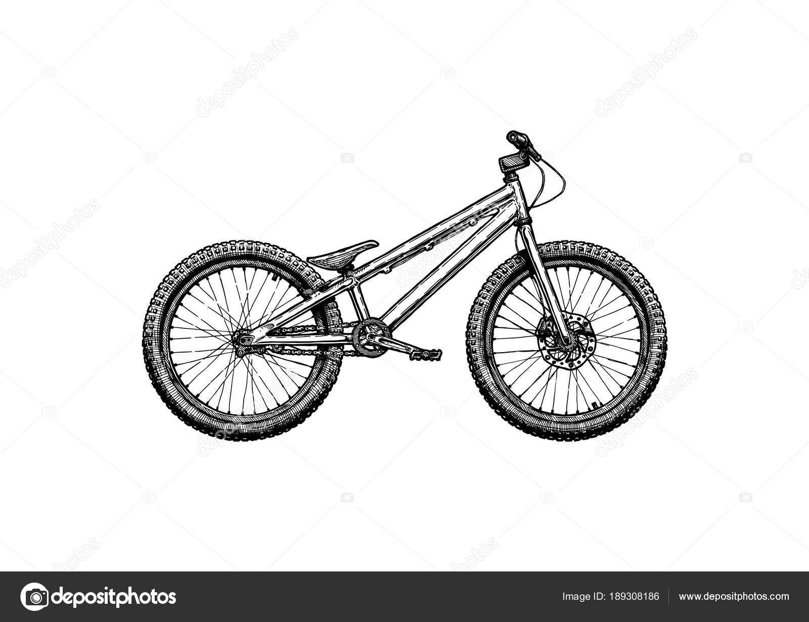 trial bike stock stock vector suricoma 189308186