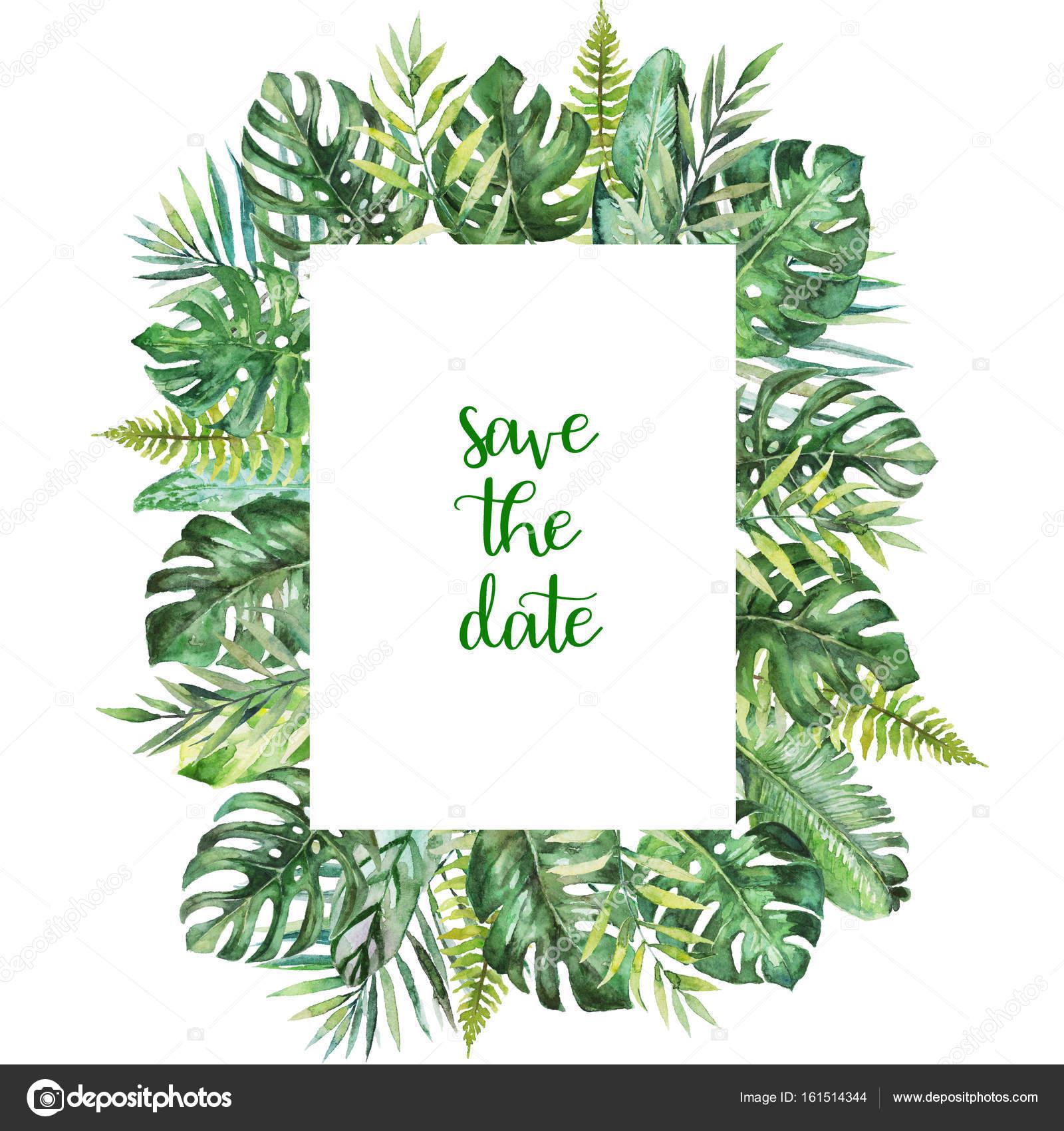 Invitaciones Tropicales Para Imprimir Ilustración Floral