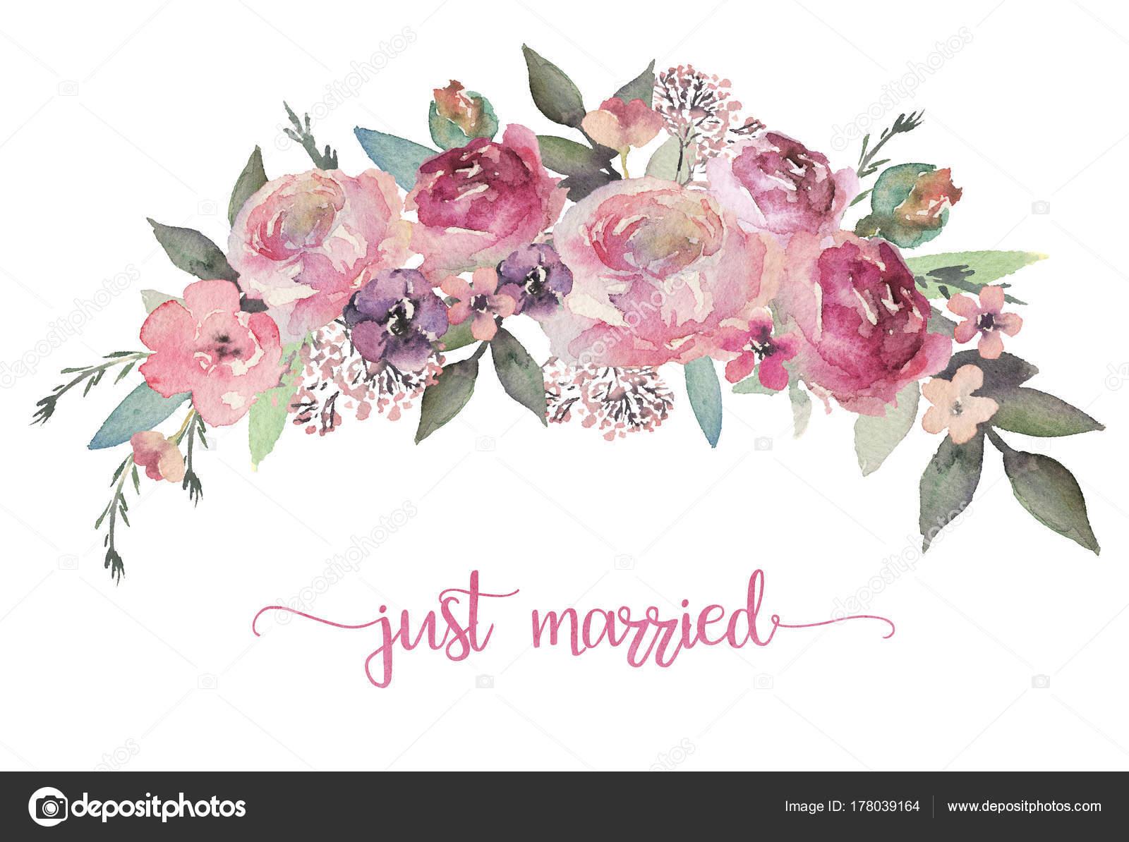 Illustrazione Floreale Dell Acquerello Bouquet Fiori