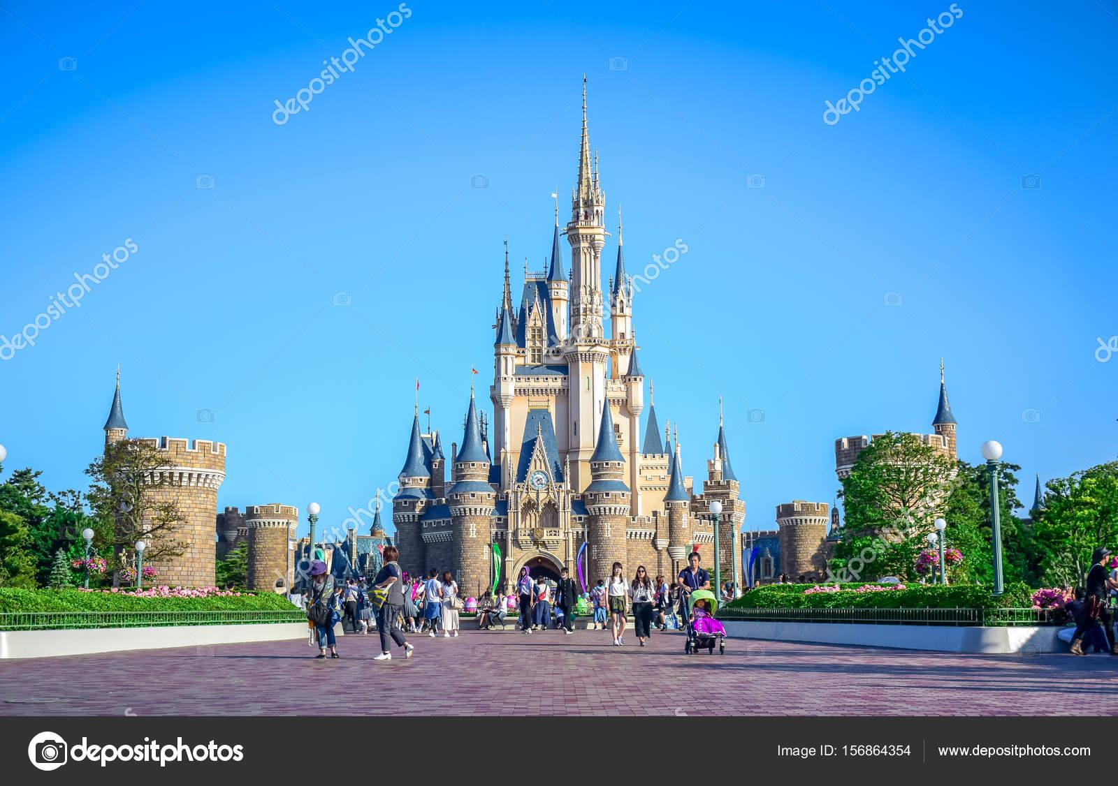 東京ディズニーランド シンデレラ城観 千葉県 ストック編集用写真