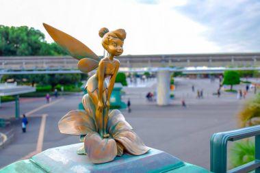 CHIBA, JAPAN: Tinker Bell small statue at Tokyo Disney Resort, Urayasu, Japan