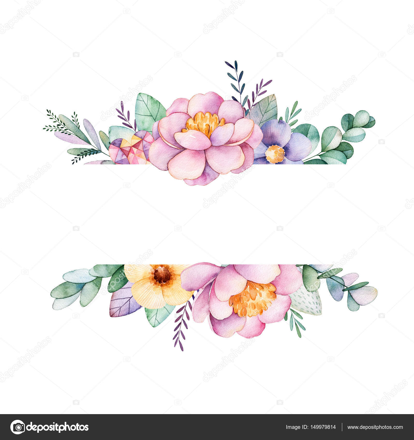 beautiful watercolor border frame stock photo  u00a9 katerina peony clipart black and white penny clipart