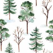 Kézzel rajzolt erdők elszigetelt fehér háttér