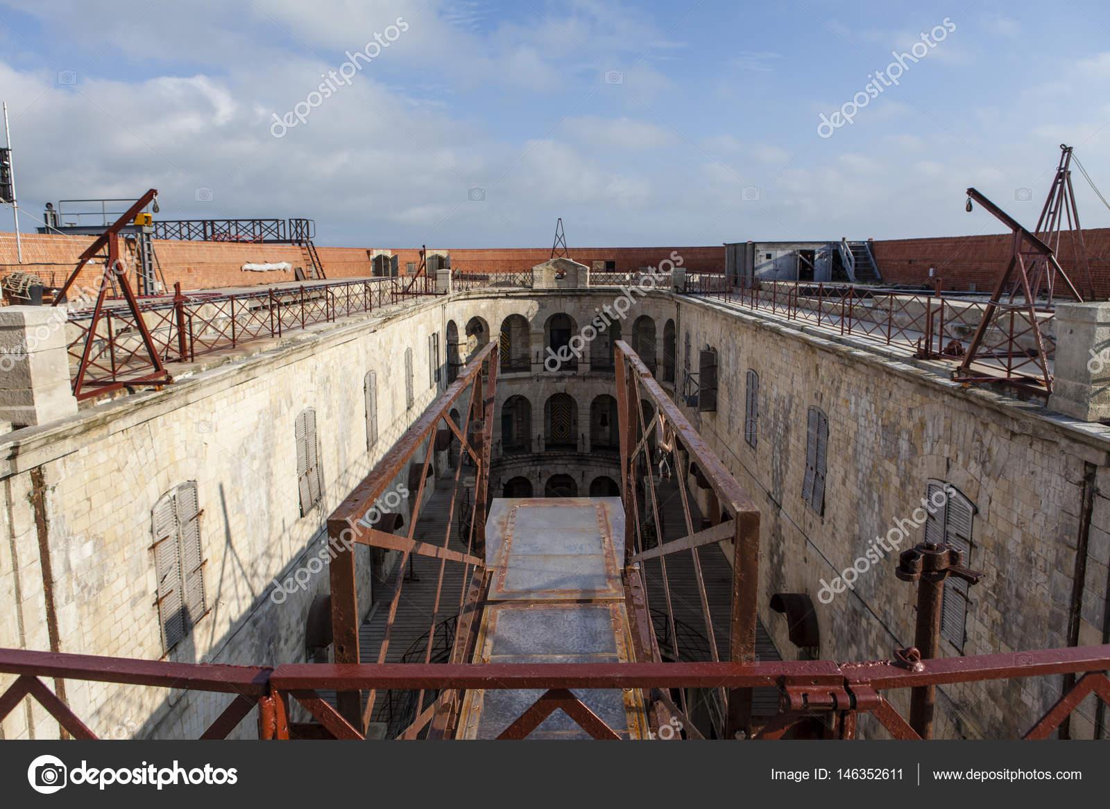 Interieur von Fort Boyard in Frankreich, Charente-Maritime ...