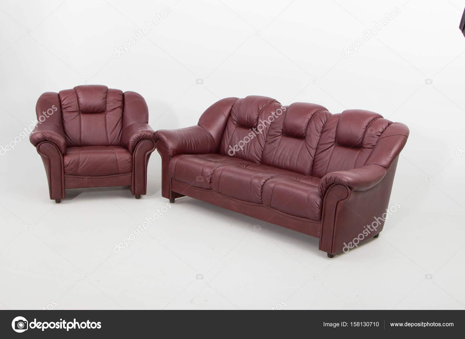 Loveseat sessel leder  Antik-Leder Stuhl Sessel — Stockfoto © jbgroup #158130710