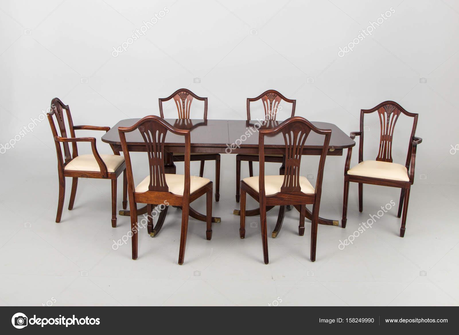 Sala da pranzo setsb sedie vintage foto stock jbgroup for Sedie da sala pranzo