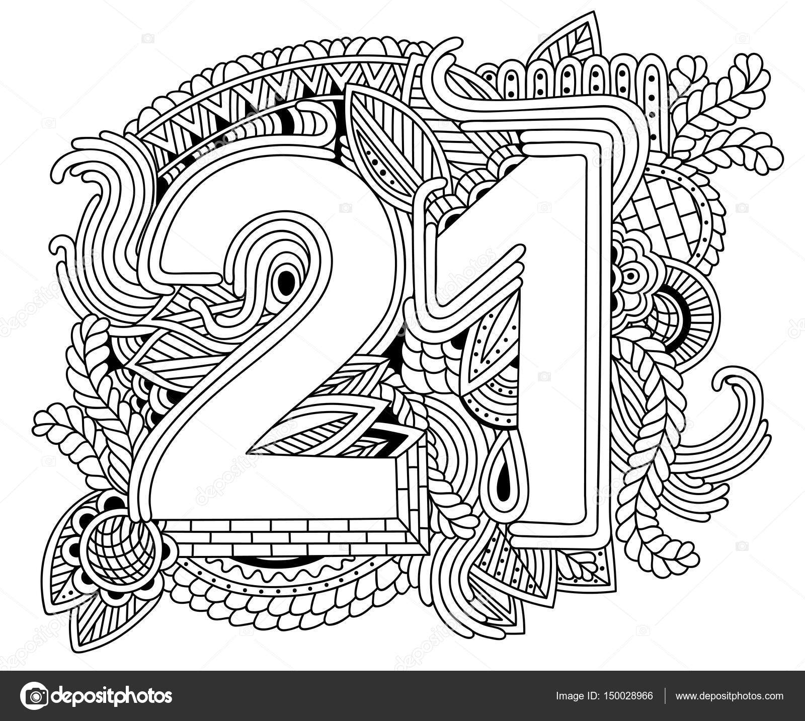 Goede Happy birthday number 21, greeting card for 21year with geometr SA-37