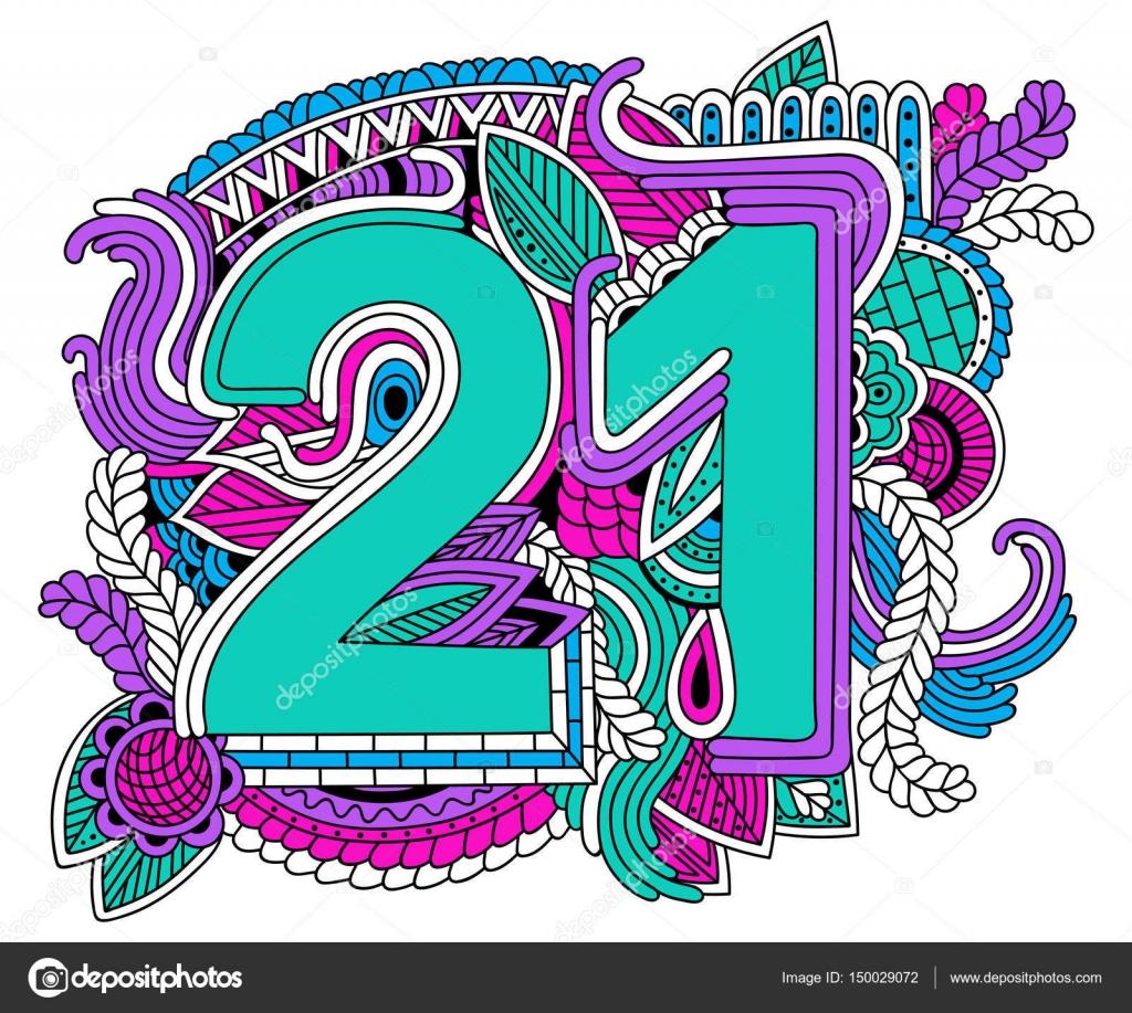 number 21 design for birthday