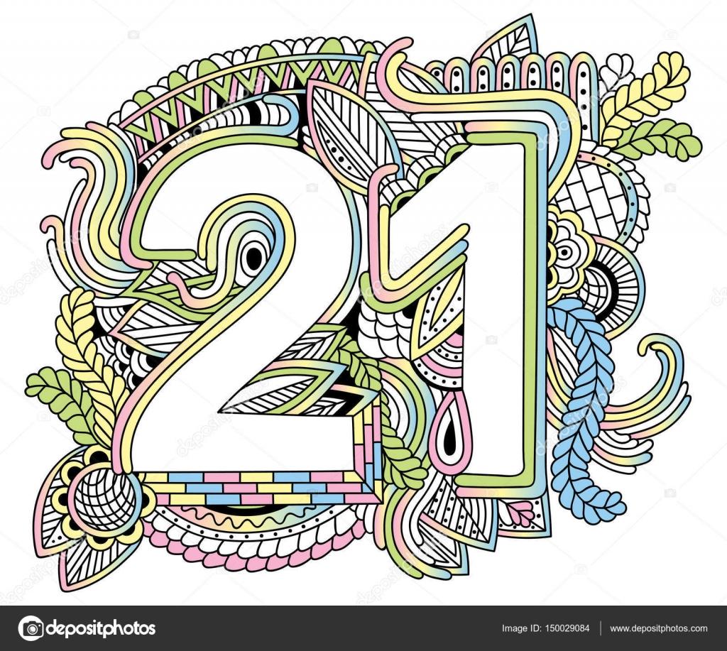 Nombre De Joyeux Anniversaire 21 Carte De Voeux Pour L Annee 21